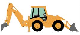 Loader working vehicles png. Backhoe clipart