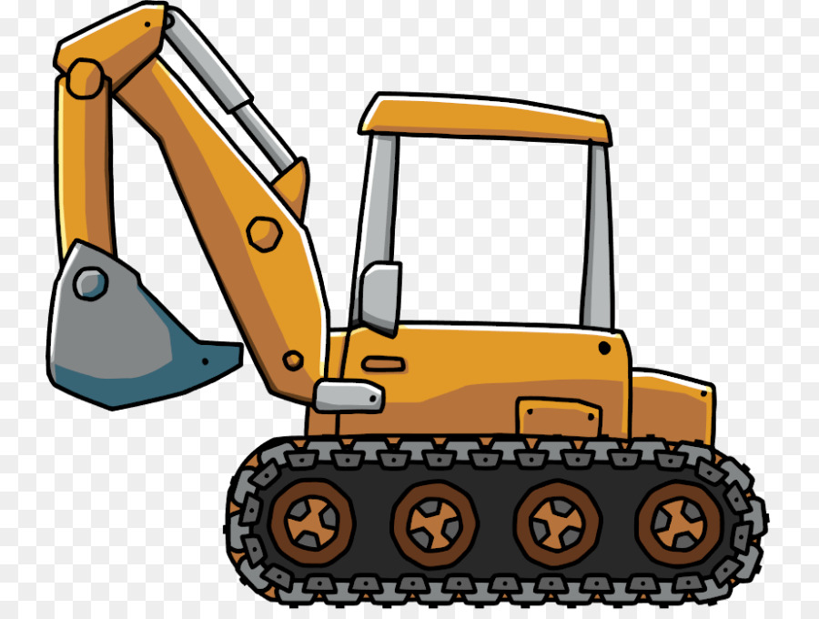 Backhoe clipart animated. Caterpillar cartoon png download