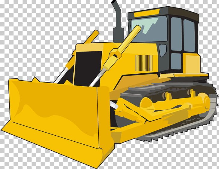 Caterpillar inc bulldozer architectural. Backhoe clipart animated