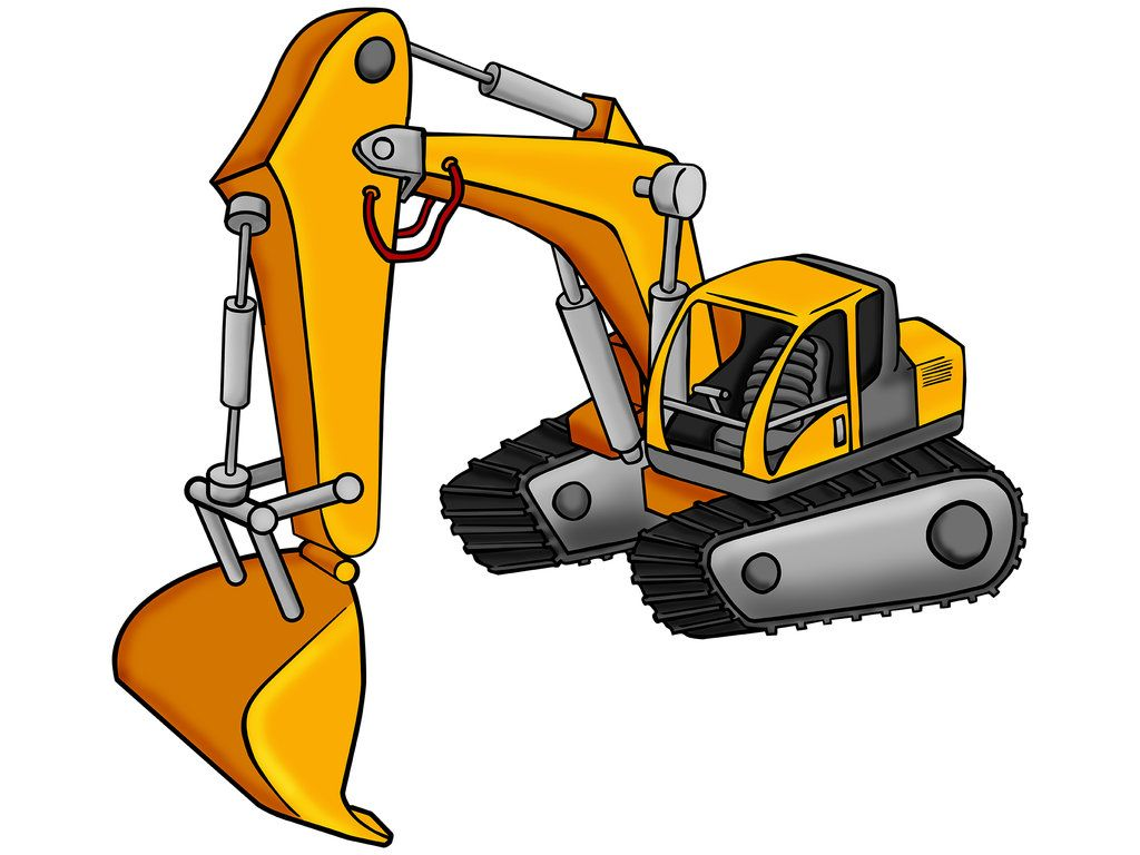 Excavator cartoon by himuralbr. Backhoe clipart animated