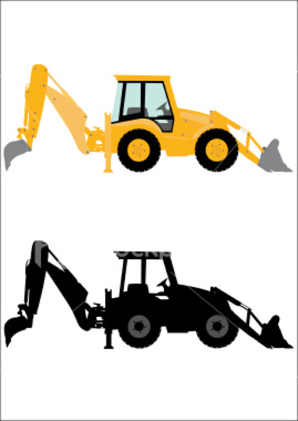 Backhoe clipart animated. Machine free images at