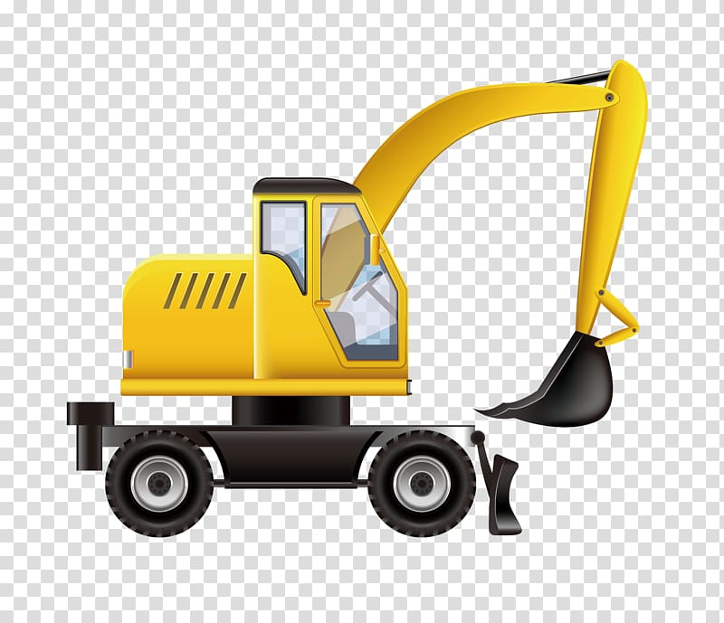 Backhoe clipart animated. Architectural engineering illustration simple