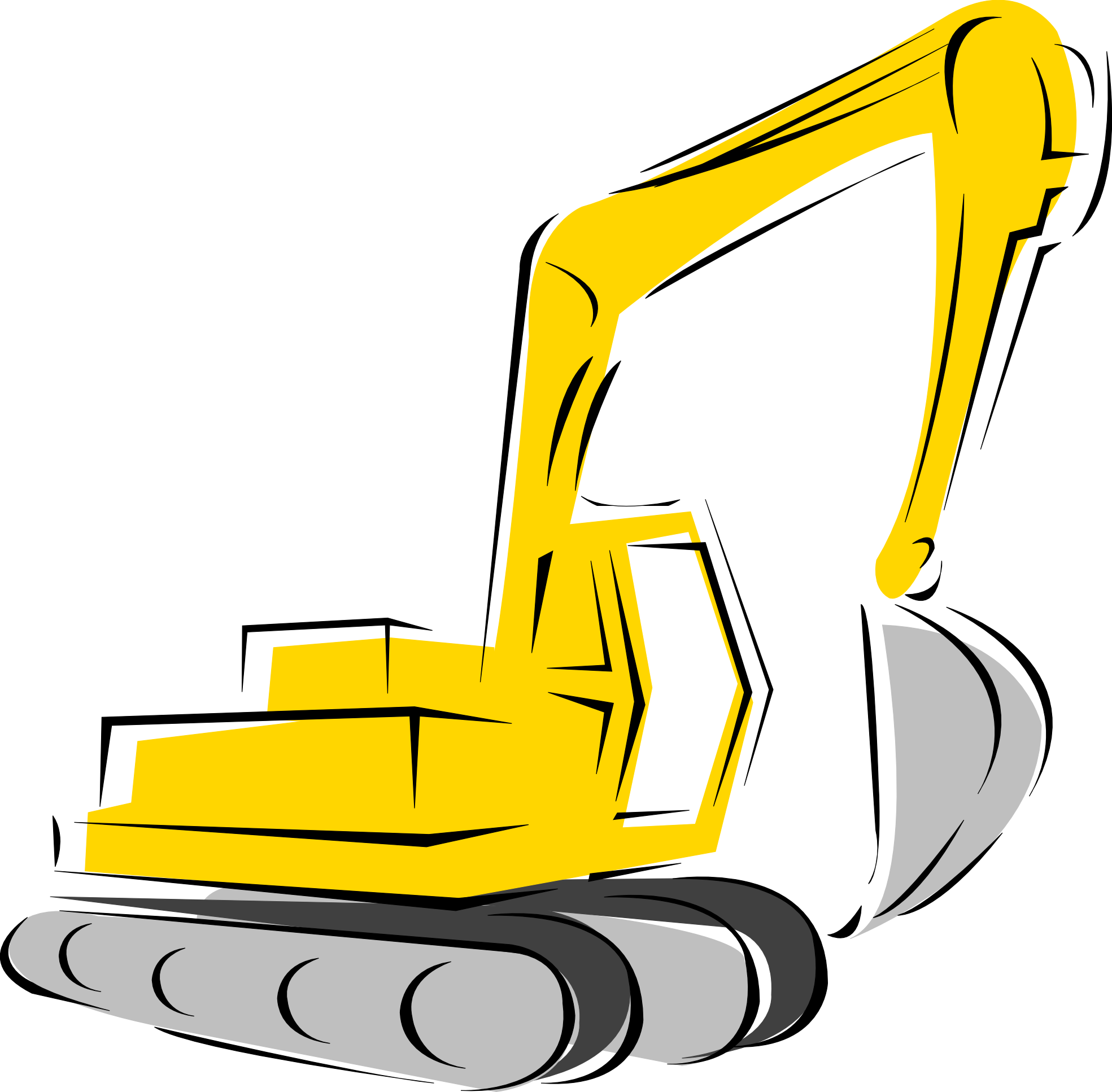 Backhoe silhouette at getdrawings. Gear clipart vector art