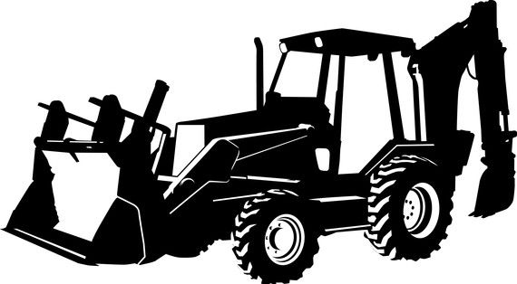 Decal perfect for a. Backhoe clipart backhoe case