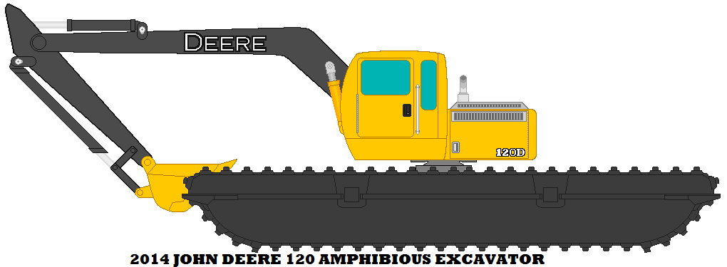 amphibious excavator by. Backhoe clipart backhoe john deere