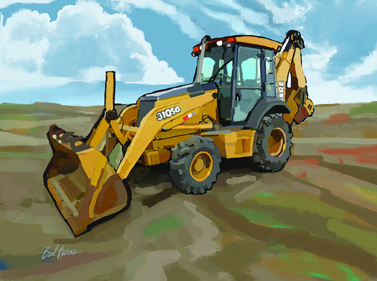 Backhoe clipart backhoe john deere. Loader brad burns construction