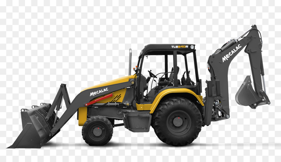 Mecalac excavator heavy machinery. Backhoe clipart backhoe loader