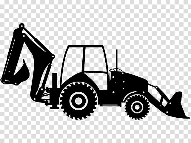 Backhoe clipart backhoe tractor. Heavy machinery loader transparent