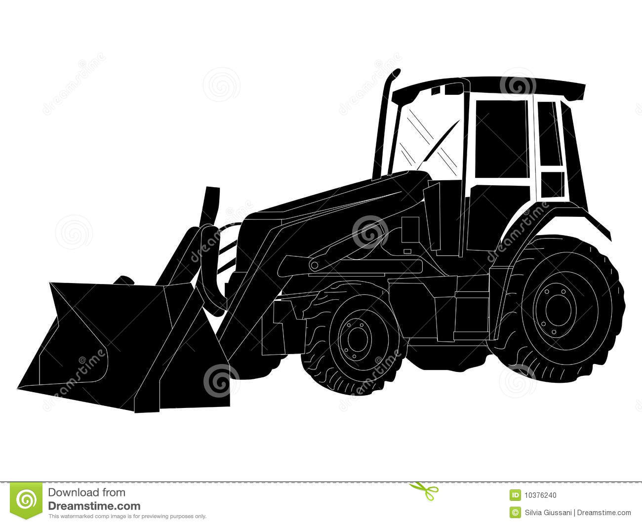 Silhouette at getdrawings com. Backhoe clipart black and white