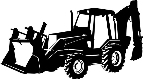 Beautiful design ideas gallery. Backhoe clipart black and white