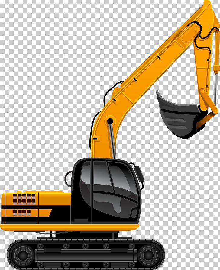 Excavator architectural engineering heavy. Backhoe clipart building equipment