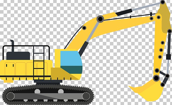 Excavator architectural engineering machine. Backhoe clipart building equipment