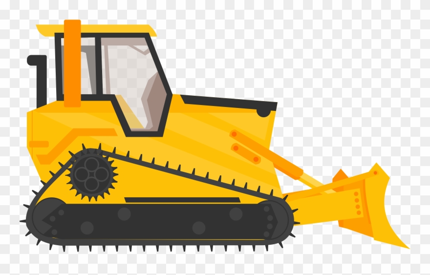 Excavator heavy machinery construction. Backhoe clipart bulldozer