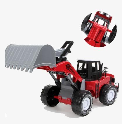 Toy farmer transportation product. Backhoe clipart car
