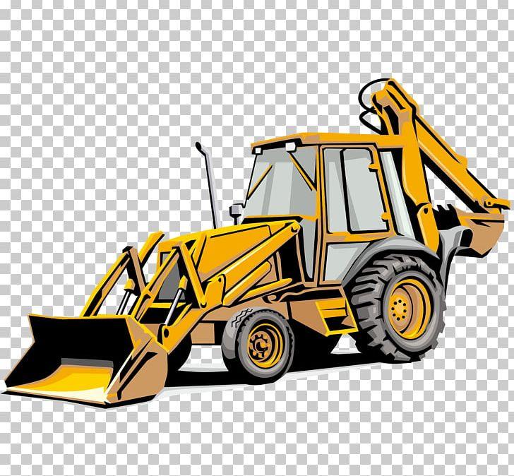 Backhoe clipart car. Loader sticker heavy equipment