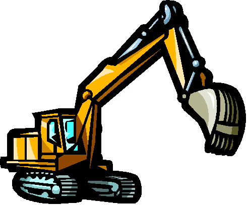 Winsome design excavator royalty. Backhoe clipart cartoon