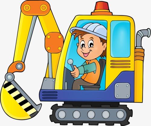 Excavator male backhoes png. Backhoe clipart cartoon