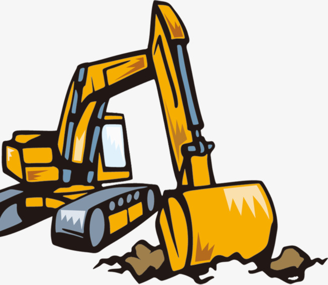 Backhoe clipart cartoon. Excavator png image and