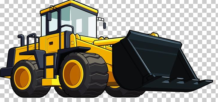 Loader heavy equipment excavator. Backhoe clipart cartoon