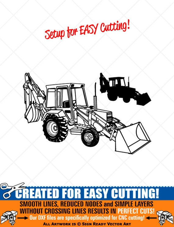 Backhoe clipart clip art. Loader vector graphics digital