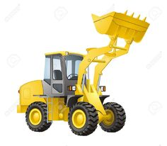 Backhoe clipart clip art. Cartoon excavator royalty free