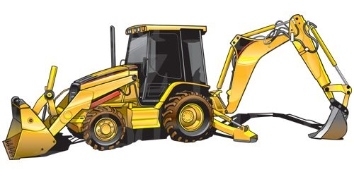 Caterpillar heavy equipment cat. Backhoe clipart clip art