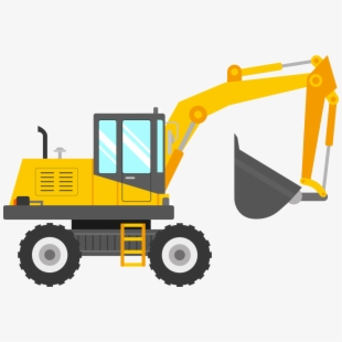 Backhoe clipart clip art. Excavator heavy equipment