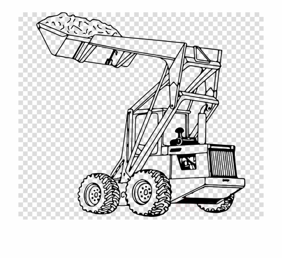 Bulldozer for loader transparent. Backhoe clipart clip art