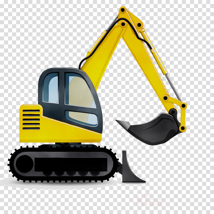 Backhoe clipart construction. Cartoon background excavator bulldozer