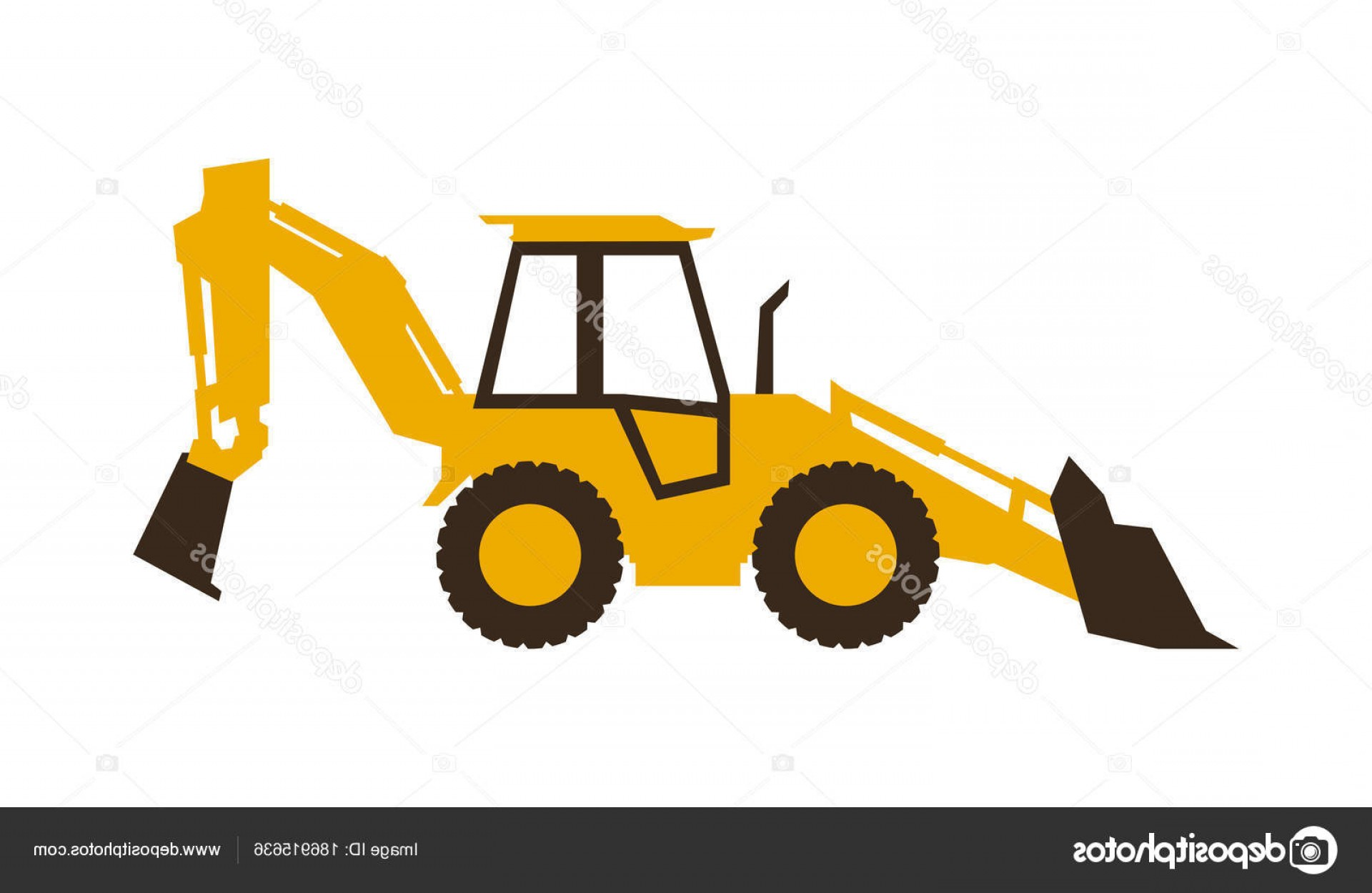 Stock illustration icon loader. Backhoe clipart construction