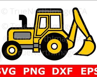 Clip art etsy excavator. Backhoe clipart construction
