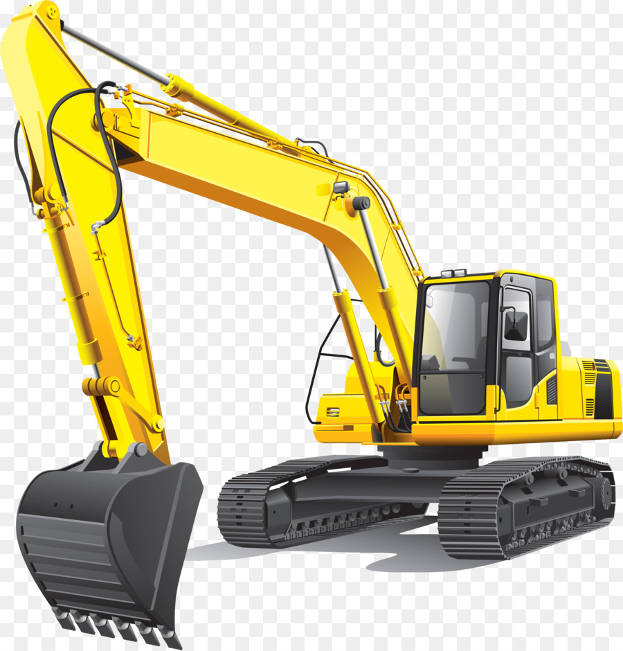 Excavator quarry loader clip. Backhoe clipart construction equipment
