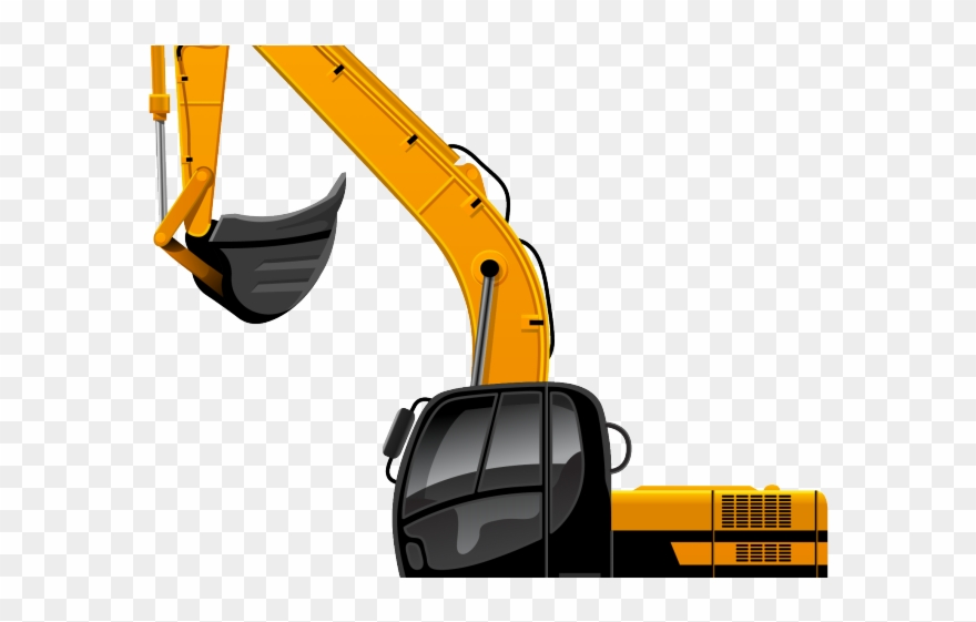 Excavator . Backhoe clipart construction equipment
