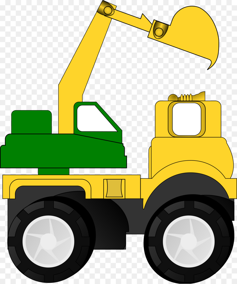Car cartoon excavator bulldozer. Backhoe clipart construction machinery