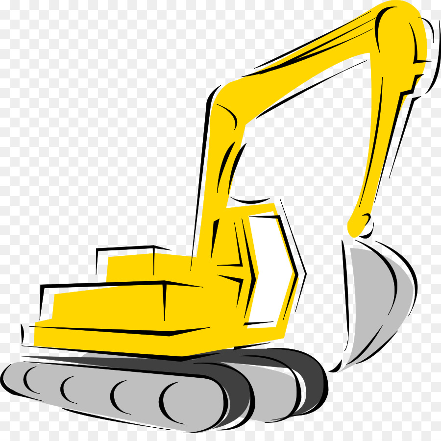 Caterpillar inc heavy excavator. Backhoe clipart construction machinery
