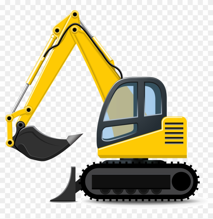 Backhoe clipart construction machinery. Excavator heavy equipment clip