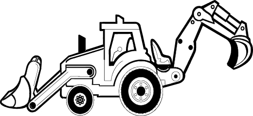 Image of clip art. Backhoe clipart construction project