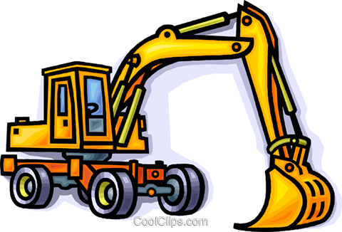 Backhoe clipart construction project. Download