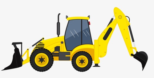 Backhoe clipart construction project. Backhoes and bulldozing site