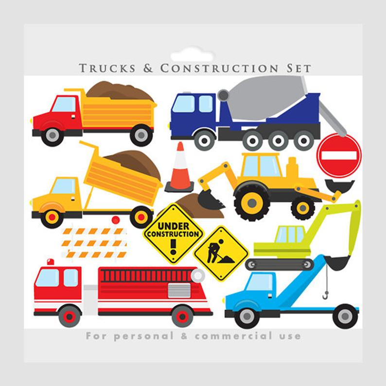 Trucks clip art excavator. Backhoe clipart construction project