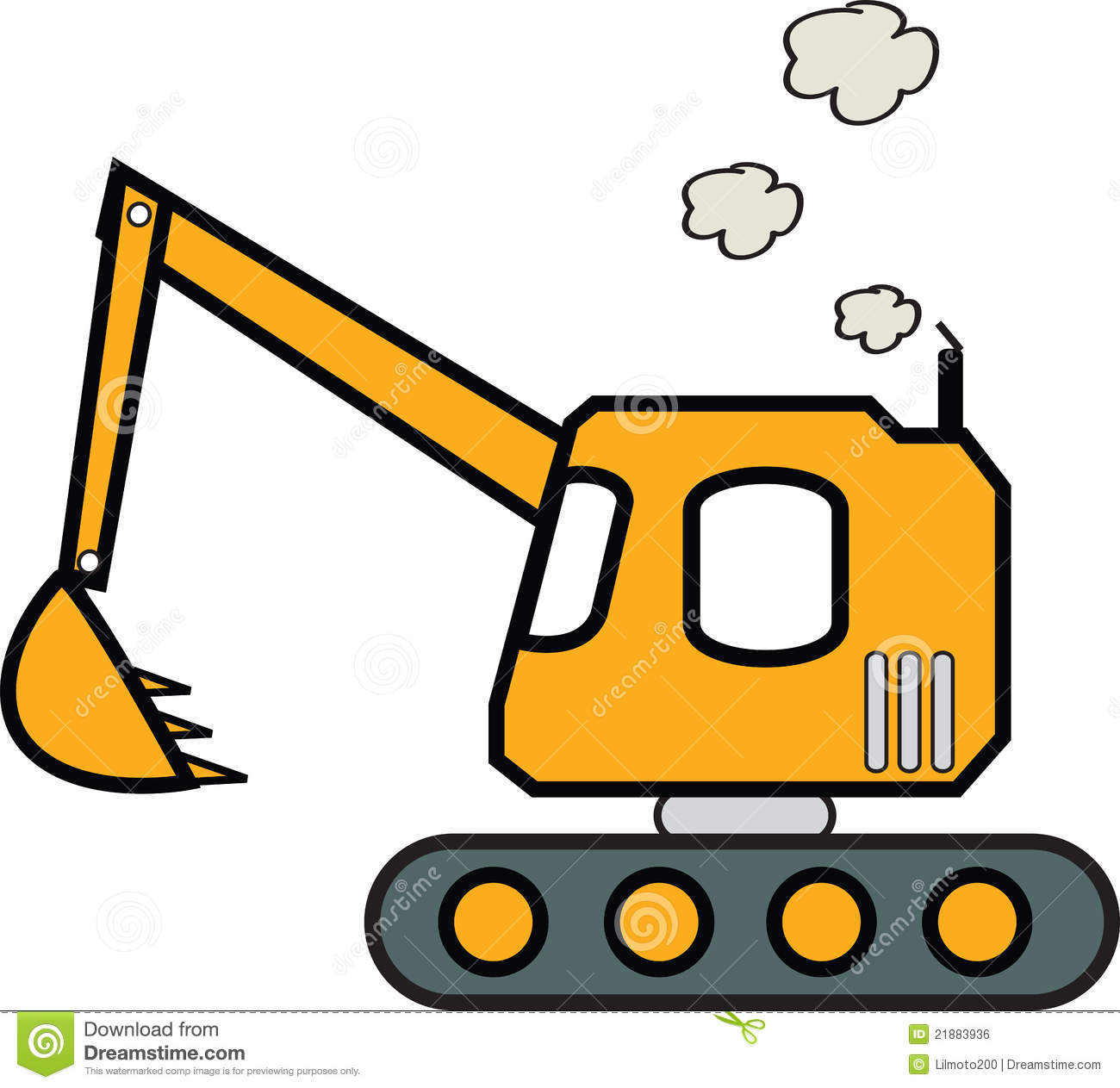 Backhoe clipart construction project. Excavator free download best