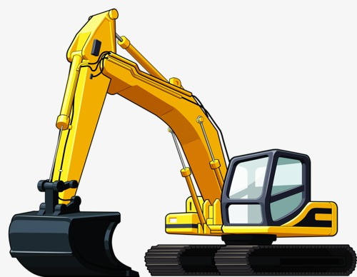 Backhoes digging site png. Backhoe clipart construction project