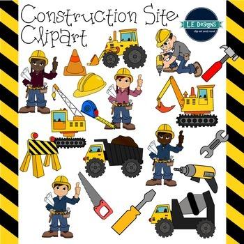 L e designs . Backhoe clipart construction site