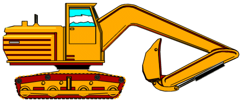 Free animated clip art. Backhoe clipart construction site