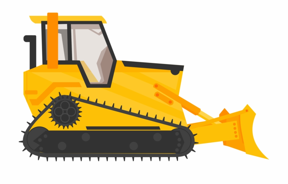 Backhoe bulldozer truck . Excavator clipart construction vehicle
