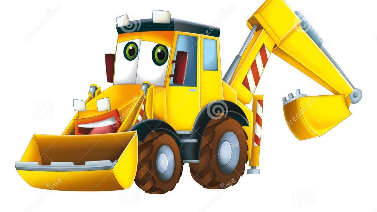 Backhoe clipart construction vehicle. Tractors diggers excavators for