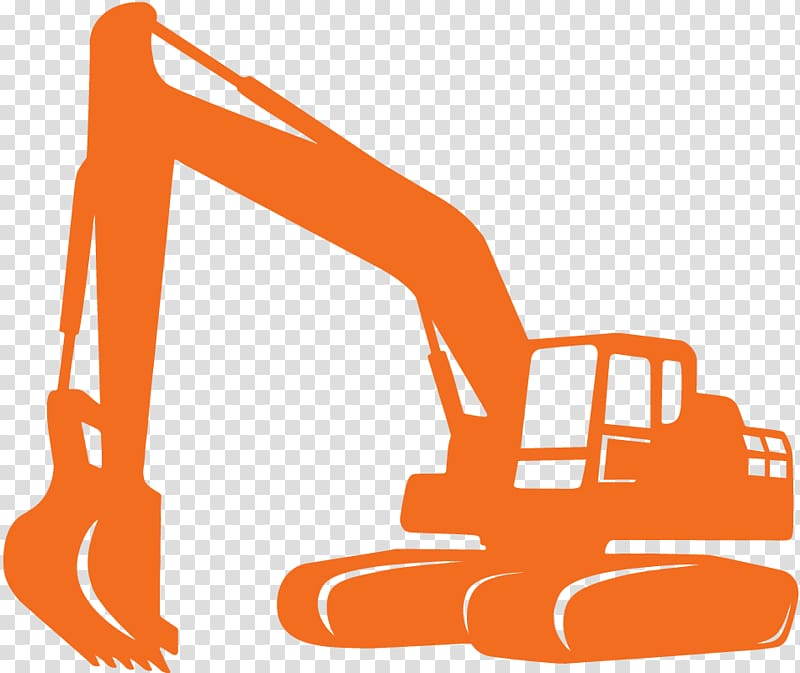 Backhoe clipart contractor. Heavy machinery excavator architectural