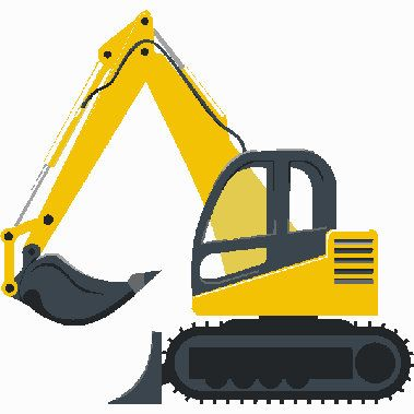 Backhoe clipart contractor. Construction excavator digital embroidery