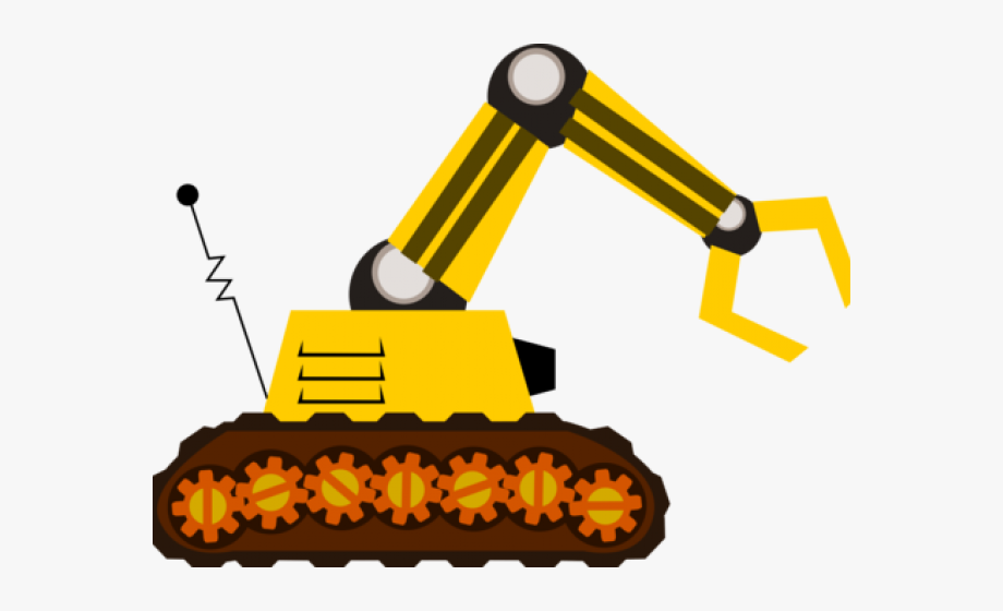 Bulldozer machines free . Backhoe clipart cute