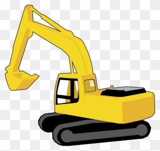 Backhoe clipart digger. Excavator full size